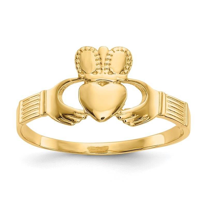Quality Gold 14k Ladies Claddagh Ring