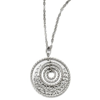 Leslie's Sterling Silver w/2in ext. Necklace