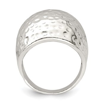 Sterling Silver Textured Dome Ring