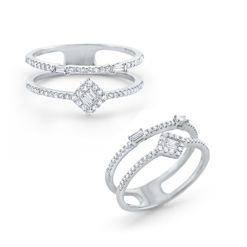 KC Designs Diamond Mosaic Double Band Set in 14 Kt. Gold