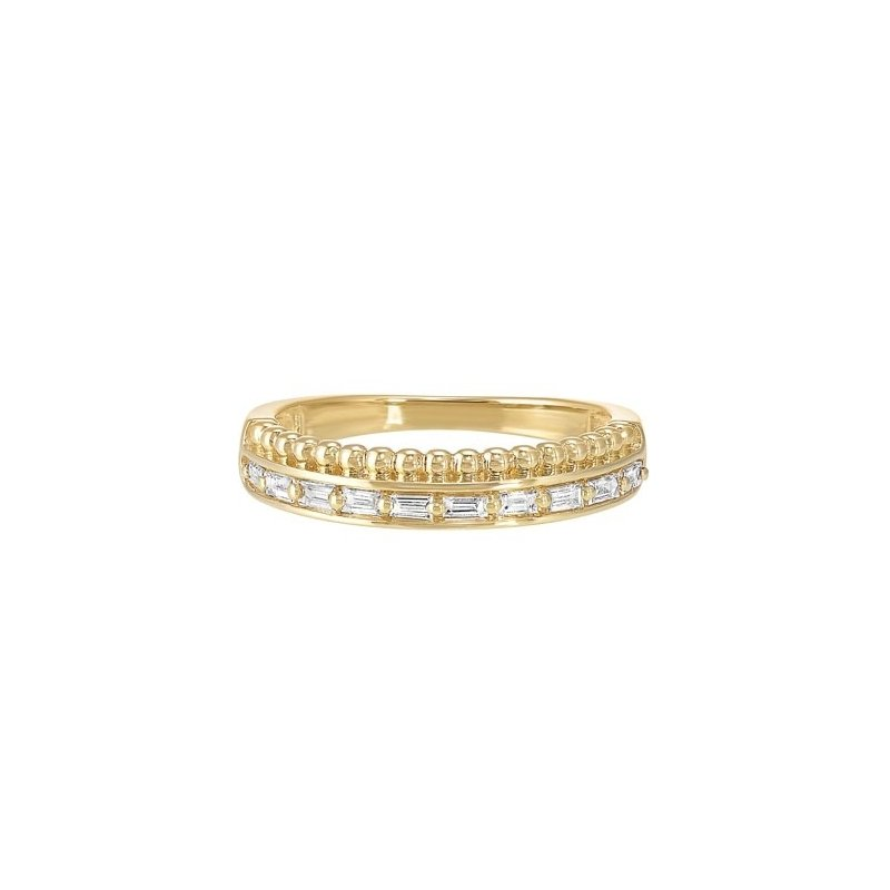 Gems One Diamond Double Decker Anniversary Wedding Band in 14k Yellow Gold (⅕ ctw)