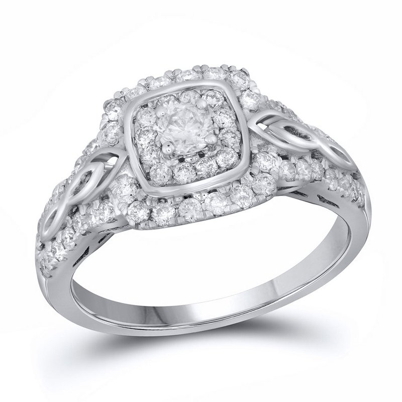 Gold-N-Diamonds 14kt White Gold Womens Round Diamond Solitaire Bridal Wedding Engagement Ring 3/4 Cttw
