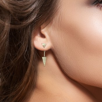 Dangle Diamond Earrings