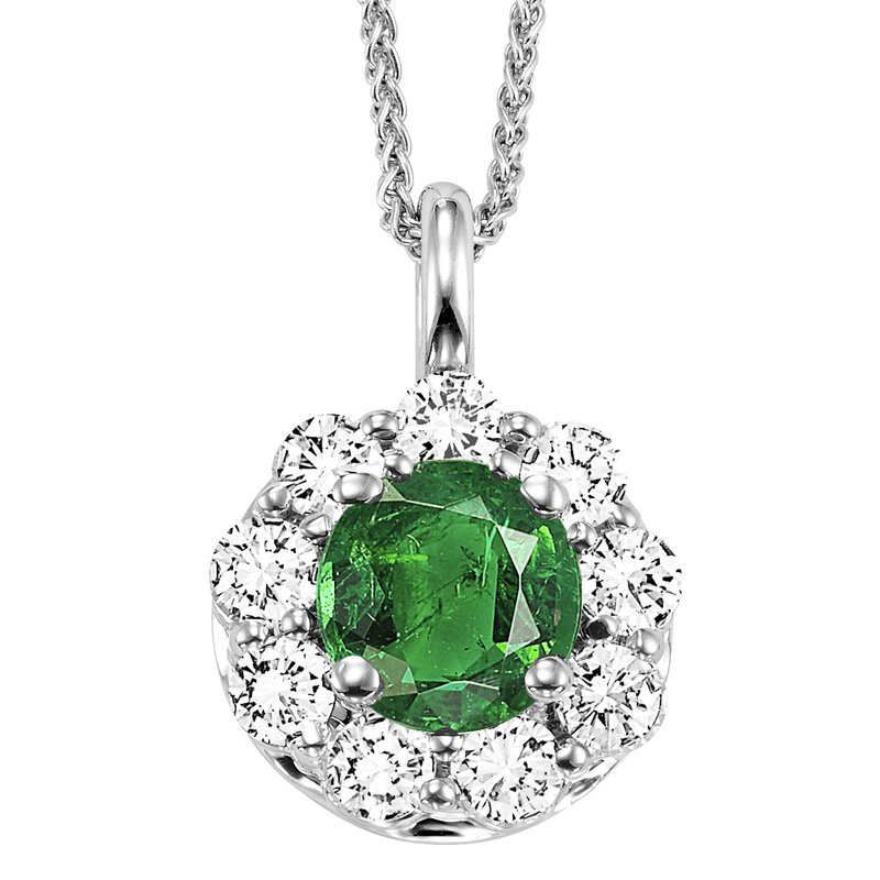 Mixables 14K Emerald & Diamond Pendant