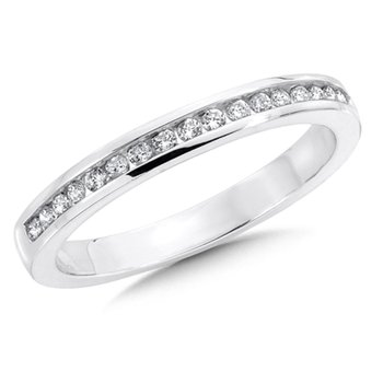 Channel set Diamond Wedding Band 14k White Gold (1/5ct. tw.)