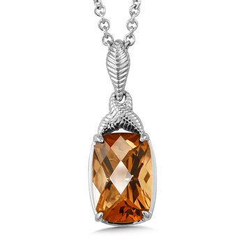 Sterling Silver Honey Citrine Pendant