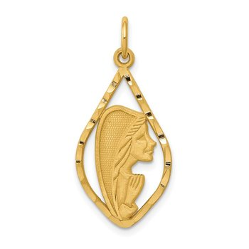 14k Blessed Mary Charm