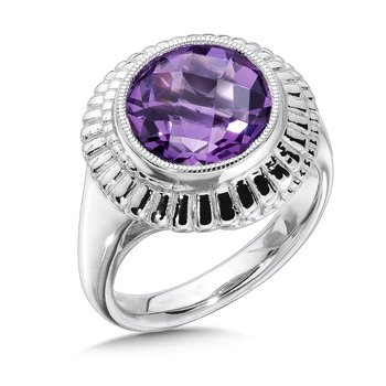 Sterling Silver Amethyst Cairo Ring