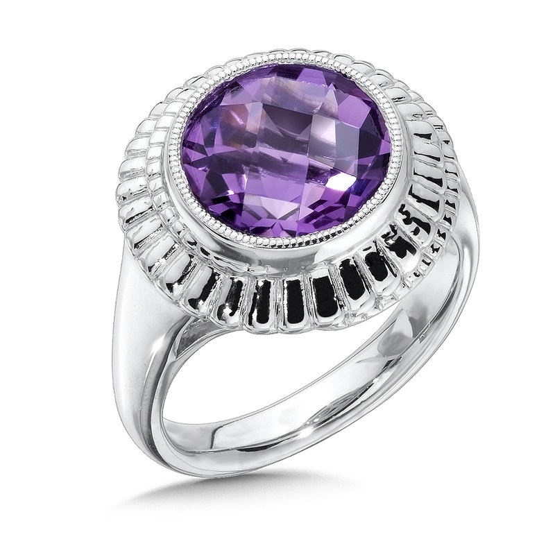 Colore Sg Sterling Silver Amethyst Cairo Ring