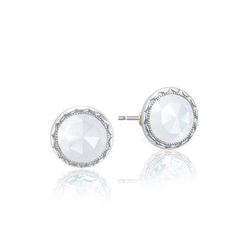 Bezel Studs featuring Chalcedony
