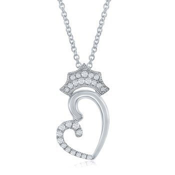 The Queen of Hearts Crown Necklace