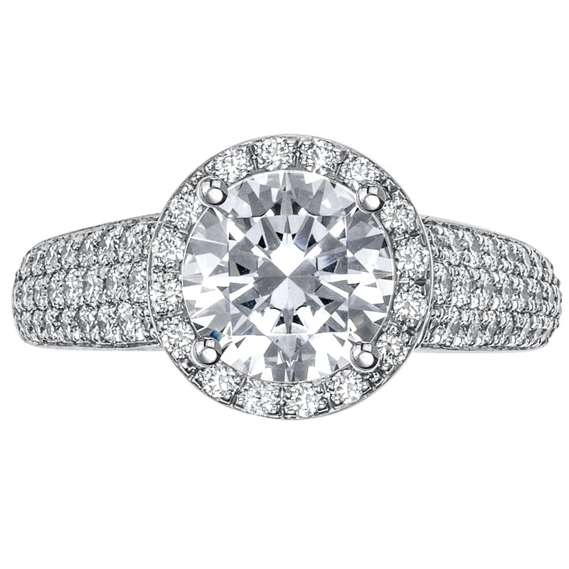 Mark Patterson Halo Pave Set Diamond Engagement Ring