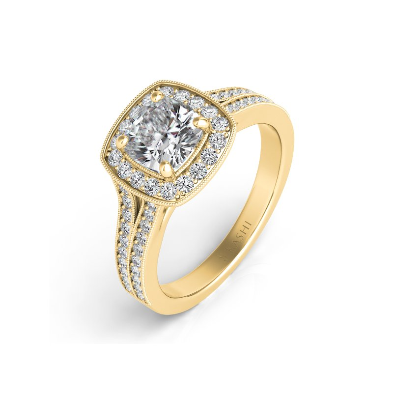 S. Kashi  & Sons Yellow Gold Diamond Engagement Ring