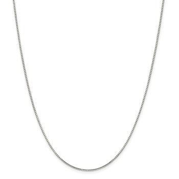 Sterling Silver 1.25mm 8 Sided Diamond-cut Box Chain