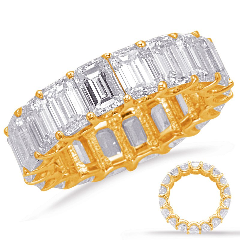 S. Kashi  & Sons Emerald Cut Eternity Band (5.1mm)