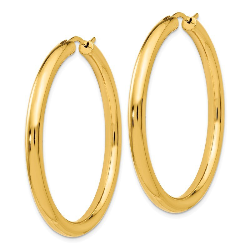 Leslie's Leslie's Sterling Silver Gold-plated 3.5mm Tube Earrings