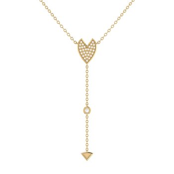 Raindrop Drip Necklace in 14 KT Yellow Gold Vermeil on Sterling Silver