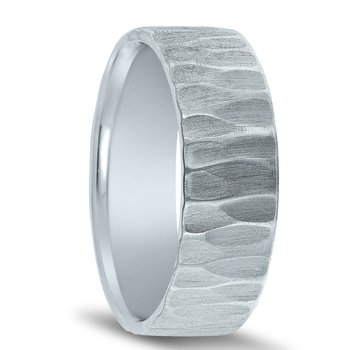 N17200 - Men's Wedding Band with Organic Finish