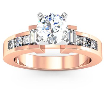 Princess & Baguette Diamond Engagement Ring