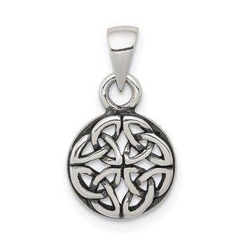 Sterling Silver Antiqued Celtic Pendant