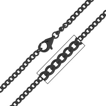 4mm Black Plated Flat Curb Chain