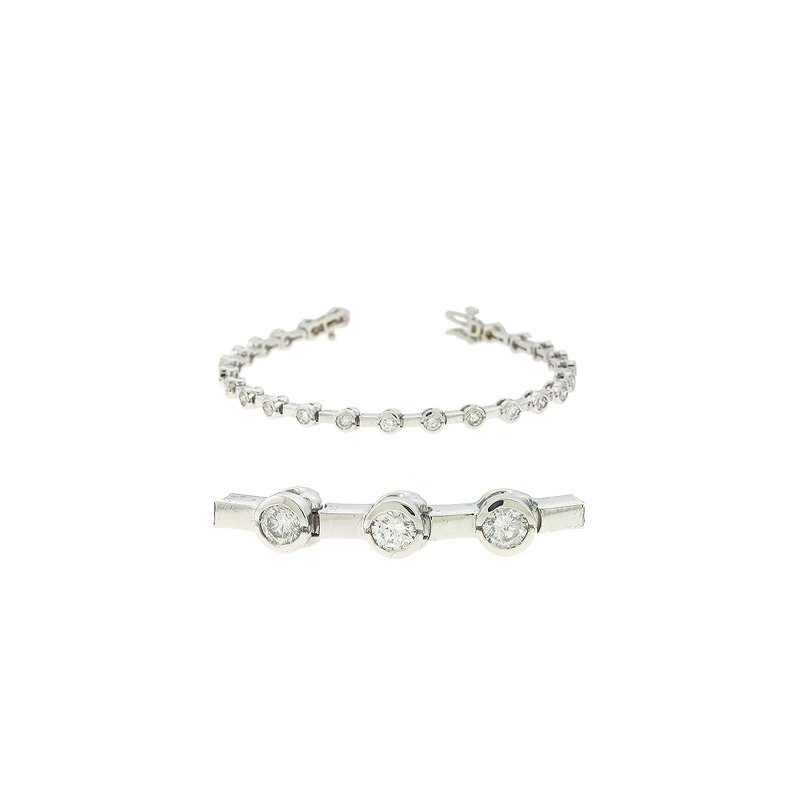Briana Tube Set Diamond Bracelet