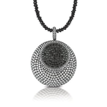 Gothica Black & White Diamond Necklace