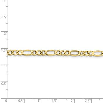 10k 4.4mm Semi-Solid Figaro Chain