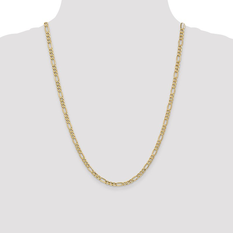 Quality Gold 10k 4.4mm Semi-Solid Figaro Chain