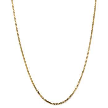 14k 1.8mm Lightweight Flat Bismark Chain Anklet