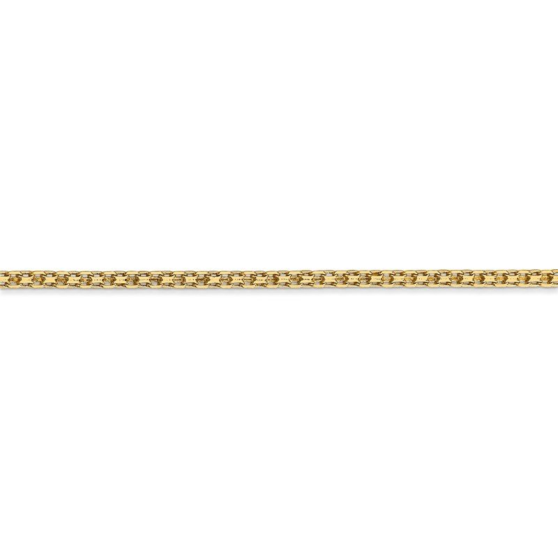Quality Gold 14k 1.8mm Lightweight Flat Bismark Chain Anklet