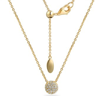 14K NECKLACE WITH 54 DIAMONDS 0.31CT ON A 18 INCHES CHAIN