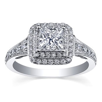 Maple Leaf Diamond Tides of Love Ladies Engagement Ring