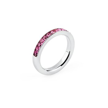 316L stainless steel and fuchsia Swarovski® Elements crystals.