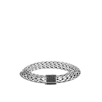Tiga Classic Chain 11MM Bracelet in Silver, Gemstone
