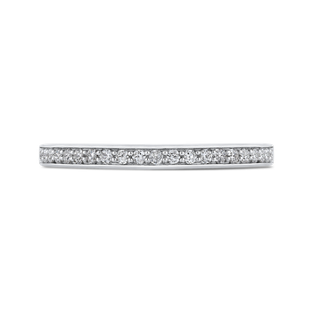 18K Two-Tone Gold Round Diamond Half-Eternity Wedding Band