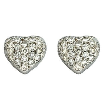 Pave Set Heart Earring