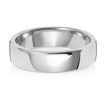 18Ct White Gold 5mm Soft Court Wedding Ring