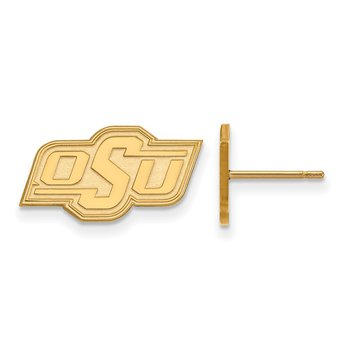 Gold-Plated Sterling Silver Oklahoma State University NCAA Earrings