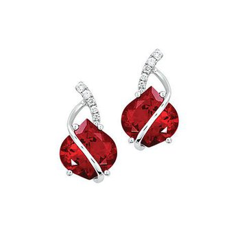 Ruby Earrings-CE3037WRU