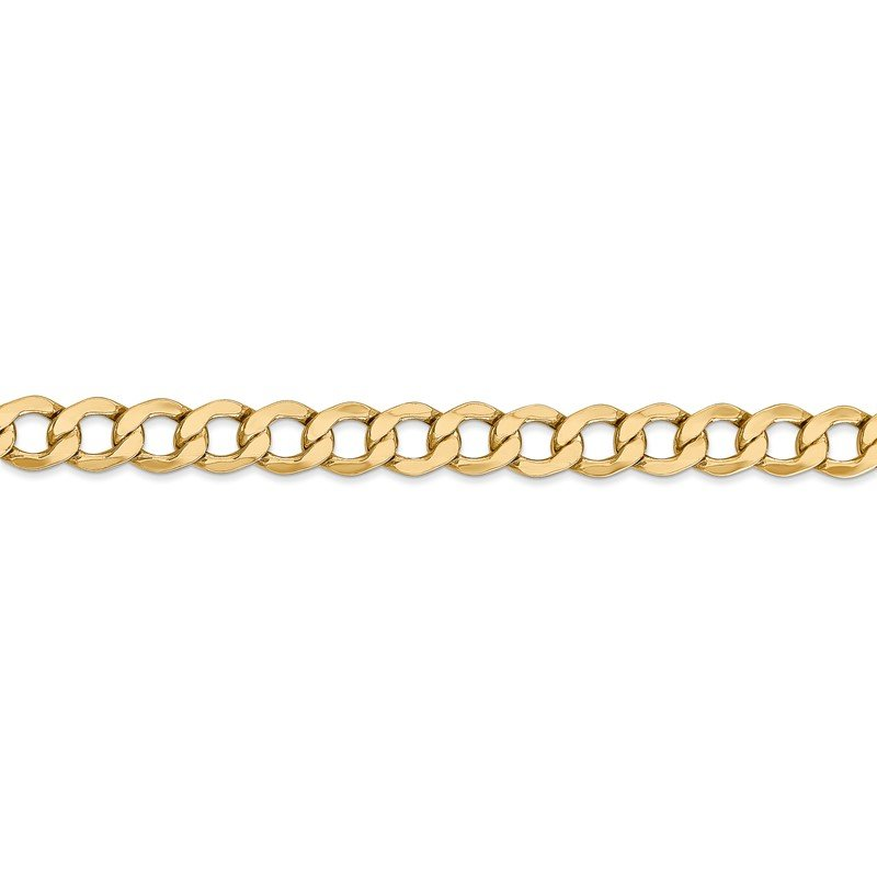 Quality Gold 14k 6.5mm Semi-Solid Curb Chain