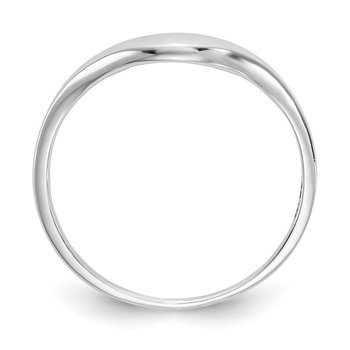 14k White Gold Swirl Ring