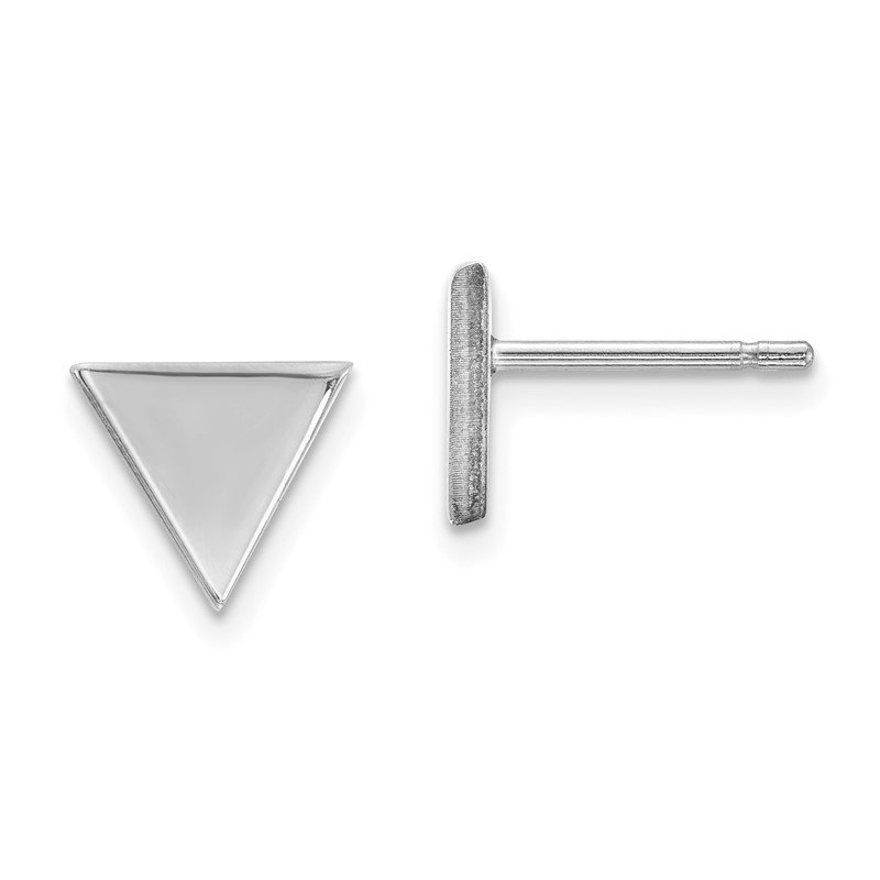 Quality Gold 14k White Gold Triangle Post Earring