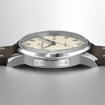 Freedom 60 - Cream Dial Leather Strap Watch
