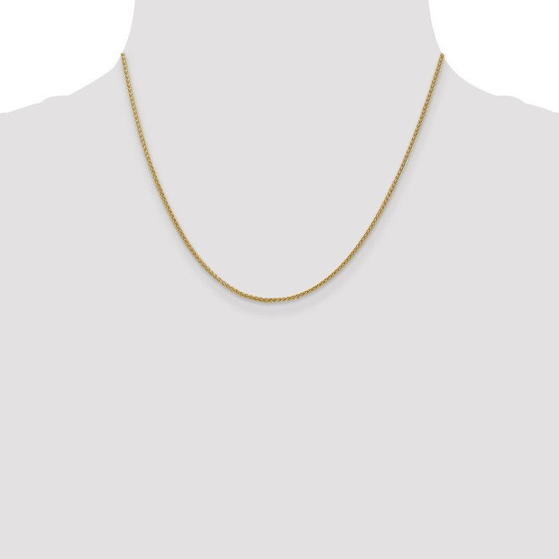 Quality Gold 14k 1.55mm Semi-Solid Wheat Chain