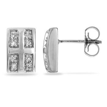14K WG Diamond All Purpose Ear-rings