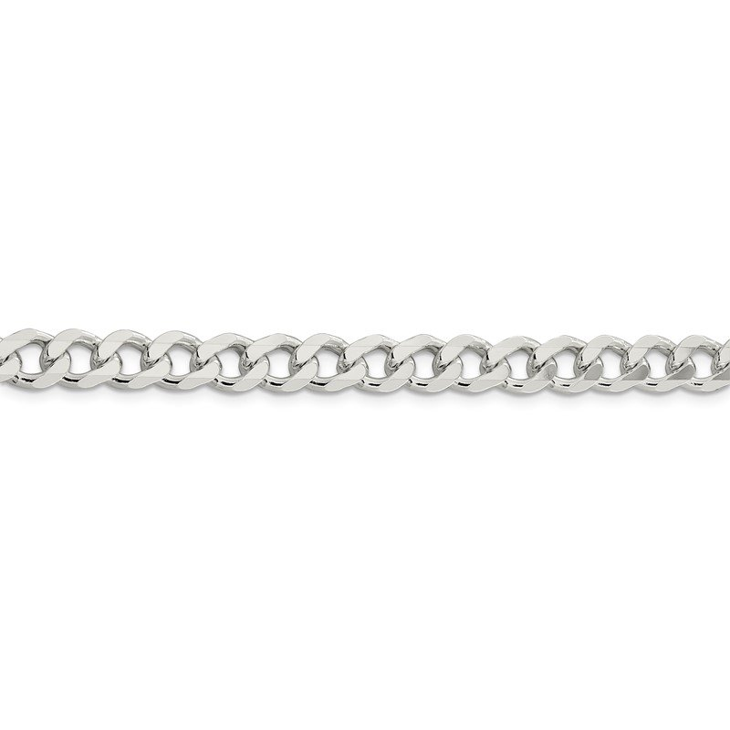 Quality Gold Sterling Silver 7.5mm Curb Chain