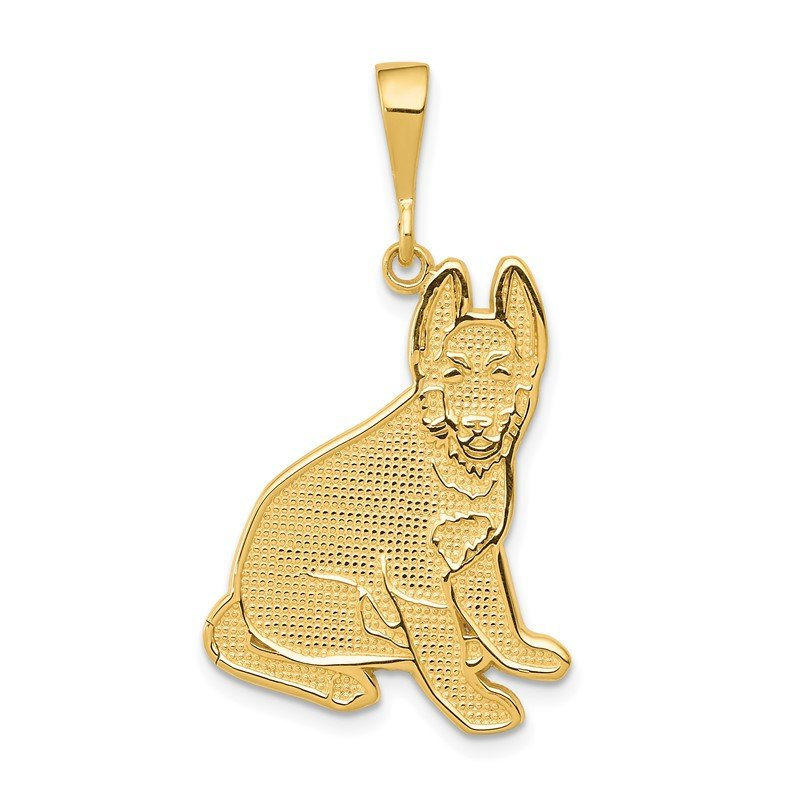 Quality Gold 14k German Shepherd Pendant