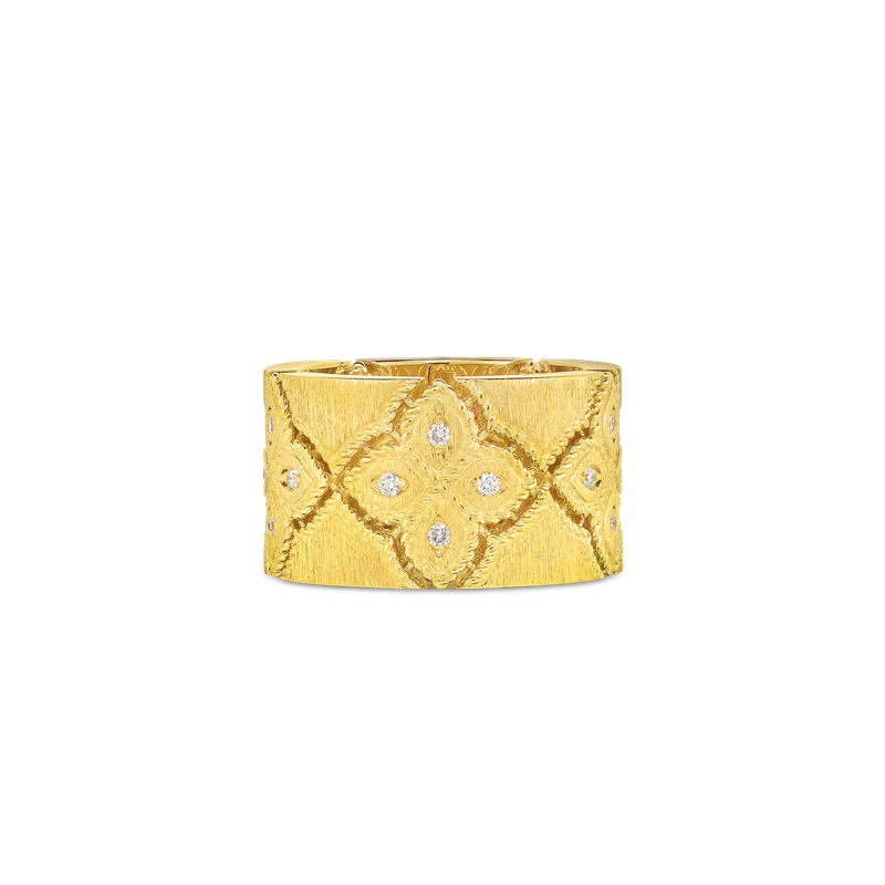 Roberto Coin 18Kt Wide Ring With Diamonds