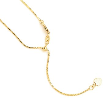 Leslie's 14K Adjustable Box Chain